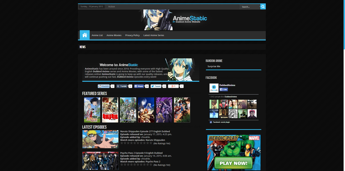 list of anime websites